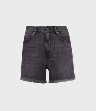 AllSaints Yanni High-Rise Denim Shorts
