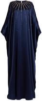 Carolina Herrera Crystal-embellished Silk-satin Gown - Womens - Navy Multi
