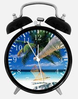 "Ikea Palm Tree Beach Alarm Desk Clock"" Room Decor E105 will Be a Nice Gift"
