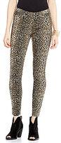 Hue Leopard-Printed Denim Leggings