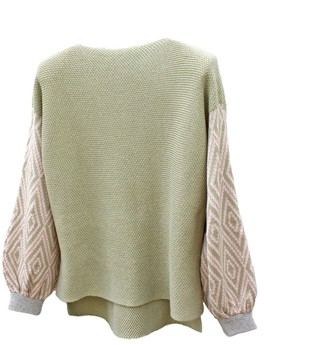 Katie Victoria Olive Tile Cotton Jumper