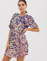 Asos Design DESIGN T-shirt mini dress in festival sequin
