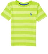 U.S. Polo Assn. Heather Apple Green Stripe Tee - Boys