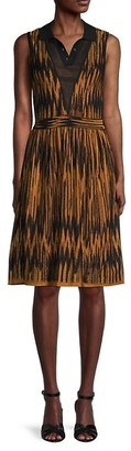 M Missoni Printed Sleeveless Shirtdress