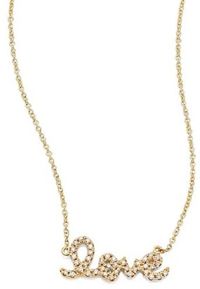 Sydney Evan Small Love Diamond & 14K Yellow Gold Pendant Necklace