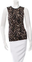 Tory Burch Printed Wool Top