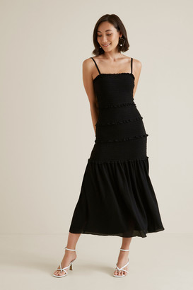 Seed Heritage Shirred Maxi Dress