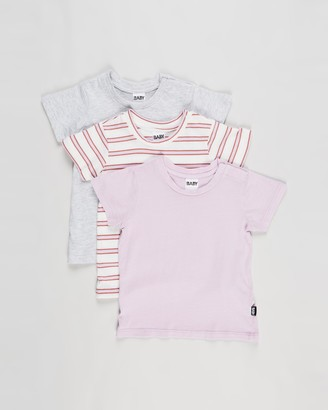 Cotton On Baby - Girl's Grey Basic T-Shirts - 3-Pack Jamie Short Sleeve Tee - Babies - Size 3-6 months at The Iconic