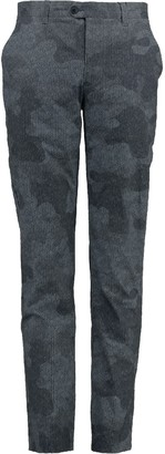 Lords Of Harlech Jack Classic Chino In Chevron Camo Grey