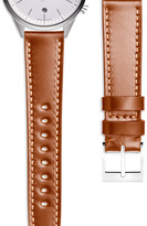 Uniform Wares Women's shell cordovan watch strap in tan with polished steel buckle