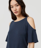 LOFT Knit Cold Shoulder Top