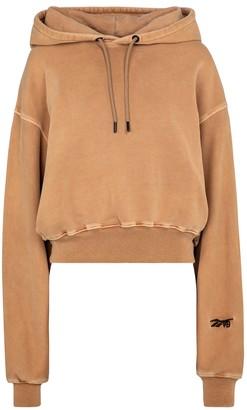 Reebok x Victoria Beckham Logo cotton-jersey hoodie