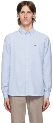 Lacoste Blue Oxford Regular-Fit Shirt