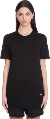 Drkshdw Jumbo Top Topwear In Black Cotton