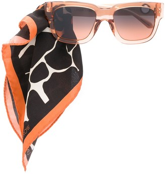 Linda Farrow Scarf-Embellished Sunglasses