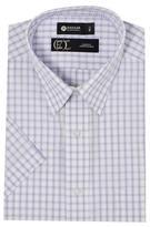 Haggar Men's Tattersall Short Sleeve Dress Shirt