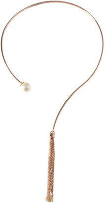 Amorium 18K Rose Gold Over Silver Tassel Choker Necklace