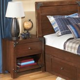 Signature Design by Ashley Signature Designs by Ashley Delburne Medium Brown 1-drawer Night Stand