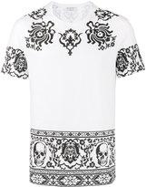 Alexander McQueen Skull border printed t-shirt - men - Cotton - S