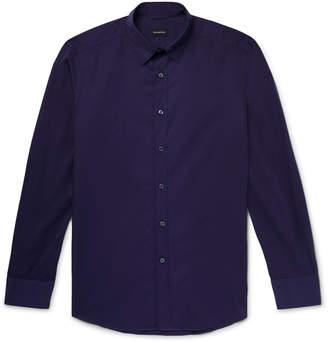 Ermenegildo Zegna Cotton-Poplin Shirt - Men - Purple