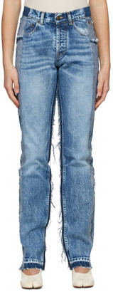 Maison Margiela Blue Recycled Spliced Jeans