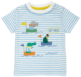 John Lewis Boat Race T-Shirt, Blue/White