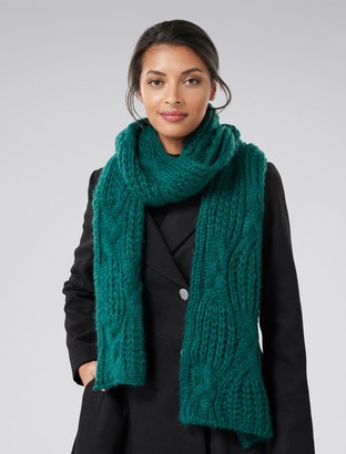 Ever New Luna Cable Knit Scarf