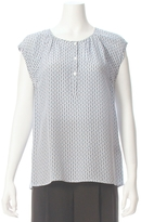 Joie Woodford Anchor Print Sleeveless Blouse