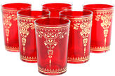 Found Object S/6 Yasmina Moroccan Glasses, Red