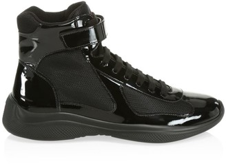 Prada America's Cup Patent Leather Sneakers