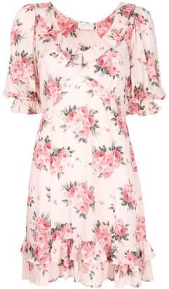 AUGUSTE Roselle Dusk rose-print mini dress