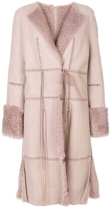 Alexander McQueen stitch detailed coat