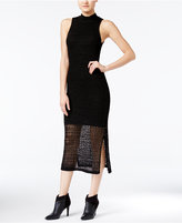 Bar III Crochet Midi Dress, Only at Macy's