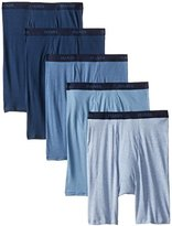 Hanes Men's 5 Pack Ultimate Assorted Long Leg Boxer Briefs
