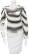 Maje Wool-Blend Striped Sweater