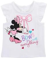 Babies 'R' Us Babies R Us Disney Girls' Ruffled Short Sleeve Tee