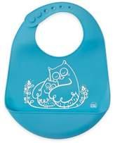 Modern Twist Owls Silicone Bib in Blue