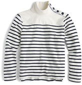 J.Crew Women's Button Mock Neck Top