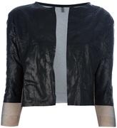 Aviu cropped leather jacket