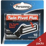 Personna Twin Pivot Plus with Lubricating Strip 10 Blades (5 Pack)