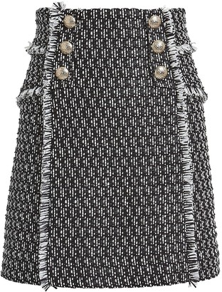 Intermix Martina Tweed Mini Skirt
