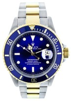 Rolex Submariner Two Tone Blue Dial Watch