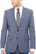 Jf J.Ferrar JF Texture Stretch Light Blue Jacket- Classic Fit