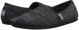 BOBS from SKECHERS Bobs Plush - Express Yourself (Black 1) Women's Flat Shoes