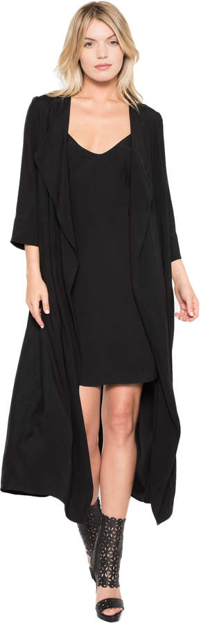 Black Halo Cassini Slip Dress with Duster