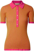 Burberry Yellowstone Ribbed Cashmere And Silk-blend Sweater - Saffron
