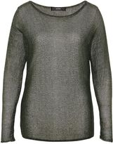 Hallhuber Fine knit jumper made of Lurex yarn