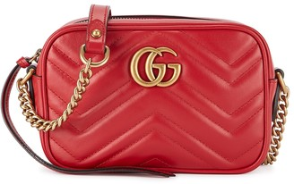 Gucci GG Marmont mini red leather cross-body bag