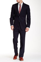 Tommy Hilfiger Navy Two Button Notch Lapel Wool Suit