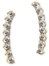 Vince Camuto Thin Studded Crystal Drop Earrings